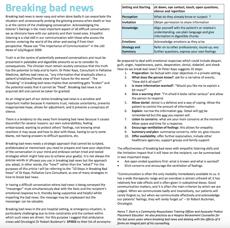 las-breaking-bad-news-guidance